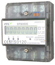 EMAT DIN-rail kWh meter 3 fase digitaal 80A (MID)